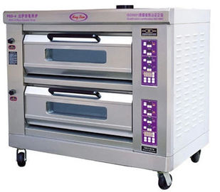 China 2 Layers Pizza Baking Ovens With Microcomputer Control distributor
